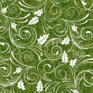 Green Holly Swirls, Winter Menagerie by In the Beginning Fabrics